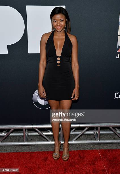 Actress Amira Lumbly attends the Los Angeles premiere of Dope in partnership with the Los Angeles Film Festival at Regal Cinemas LA Live on June 8...