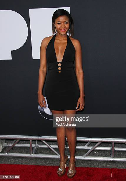 Actress Amira Lumbly attends the premiere of Dope at The Regal Cinemas LA Live on June 8 2015 in Los Angeles California