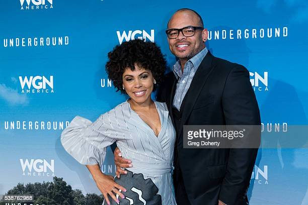 Actress Amirah Vann and Director / Executive Producer Anthony Hemingway attend the Screening And Panel For WGN America's Underground at the Landmark...