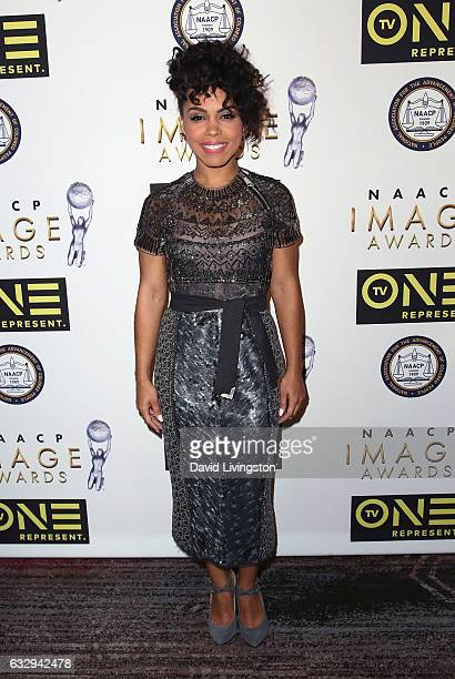 Actress Amirah Vann attends the 48th NAACP Image Awards Nominees' Luncheon at Loews Hollywood Hotel on January 28 2017 in Hollywood California