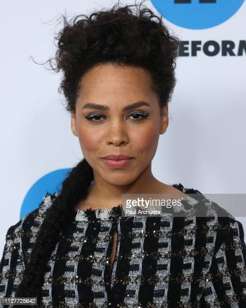 Actress Amirah Vann attends the Disney and ABC Television 2019 TCA Winter press tour at The Langham Huntington Hotel and Spa on February 05 2019 in...