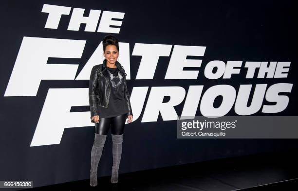 Actress Amirah Vann attends 'The Fate Of The Furious' New York Premiere at Radio City Music Hall on April 8 2017 in New York City