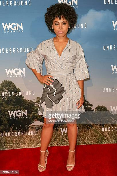 Actress Amirah Vann attends the screening and panel for WGN America's Underground at the Landmark Theatre on June 07 2016 in Los Angeles California