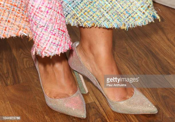 Actress Amirah Vann Shoe Detail visits Hallmark's 'Home Family' at Universal Studios Hollywood on October 2 2018 in Universal City California
