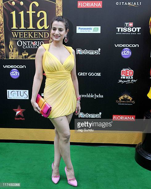 Actress Amisha Patel attends the IIFA Awards green Carpet at the Rogers Centre on June 25 2011 in Toronto Canada