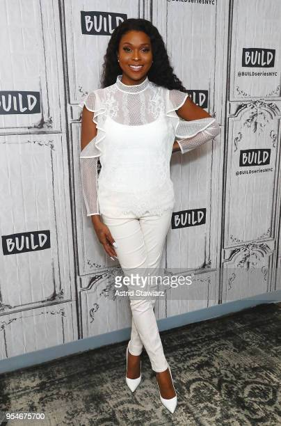 Actress Amiyah Scott discusses the Fox network series 'Star' at Build Studio on May 4 2018 in New York City