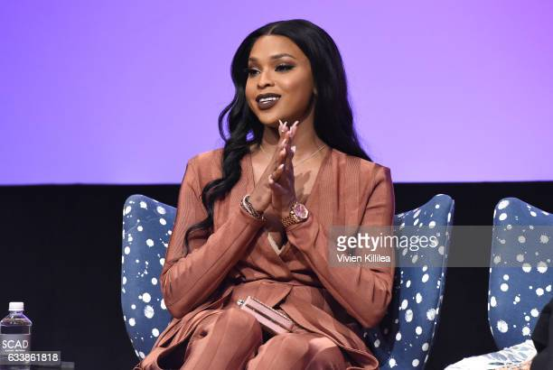 Actress Amiyah Scott speaks on stage during QA for 'Star' on Day Three of aTVfest 2017 presented by SCAD at SCADshow on February 4 2017 in Atlanta...