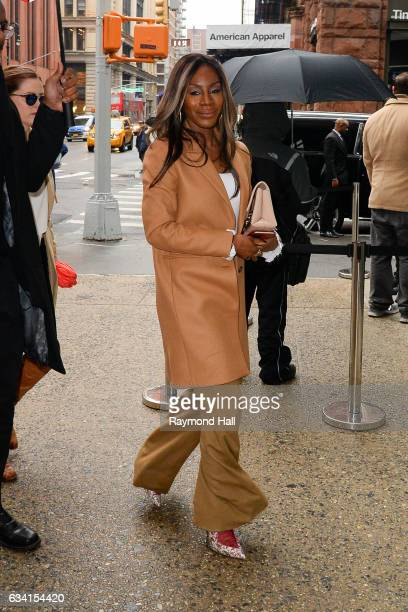 Actress Amma Asante is seen walking in Soho on February 7 2017 in New York City