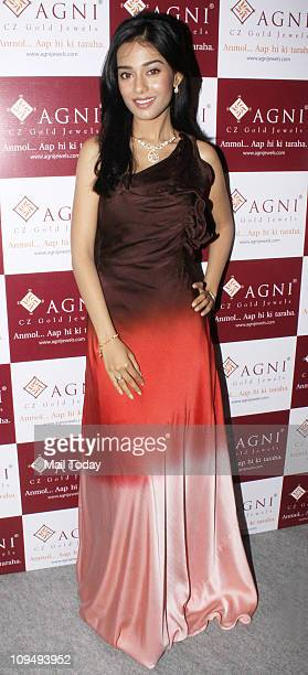 Actress Amrita Rao at an event where she was announced as the brand ambassador of Agni Jewellery