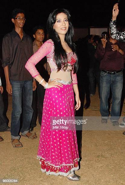 Actress Amrita Rao at the annual police show 'Umang 09' in Mumbai on Saturday December 19 2009