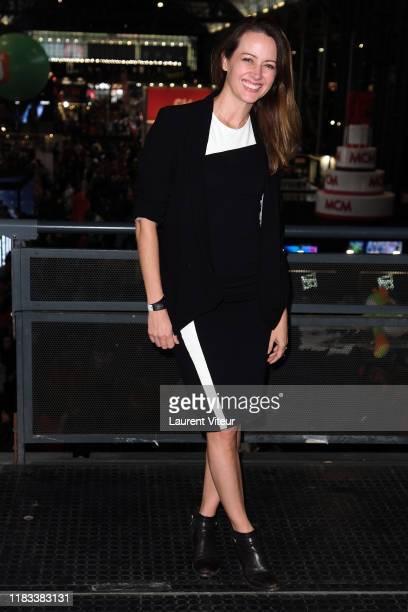 """Actress Amy Acker attends """"Comic Con Paris"""" at Grande Halle de La Villette on October 25, 2019 in Paris, France."""