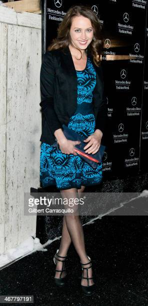 Actress Amy Acker attends Fall 2014 Mercedes - Benz Fashion Week on February 7, 2014 in New York City.
