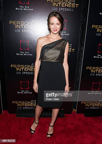 "Actress Amy Acker attends ""Person Of Interest"" 100th episode celebration event at 230 Fifth Avenue on November 7, 2015 in New York City."