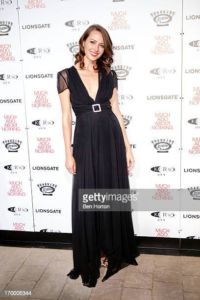 Actress Amy Acker attends the Academy of Motion Picture Arts and Sciences' Oscars Outdoors Summer Series 'Much Ado About Nothing' screening at Oscars...