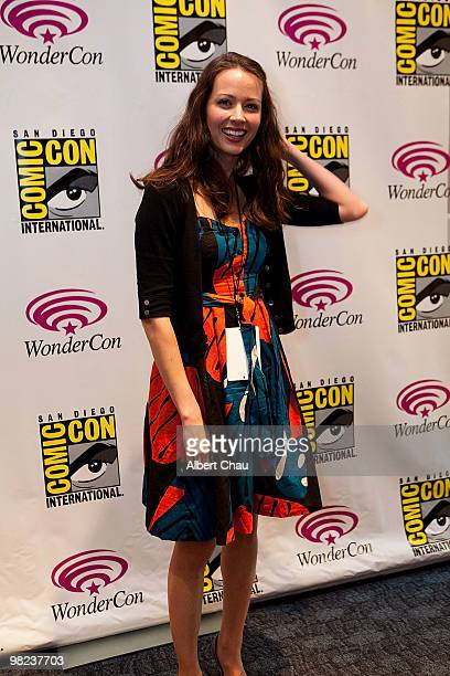 "Actress Amy Acker attends the ""Happy Town"" panel at the 2010 WonderCon - Day 2 at Moscone Center South on April 3, 2010 in San Francisco, California."