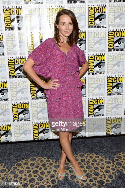 "Actress Amy Acker attends the ""Person of Interest"" press line during Comic-Con International 2013 at the Hilton San Diego Bayfront Hotel on July 20,..."