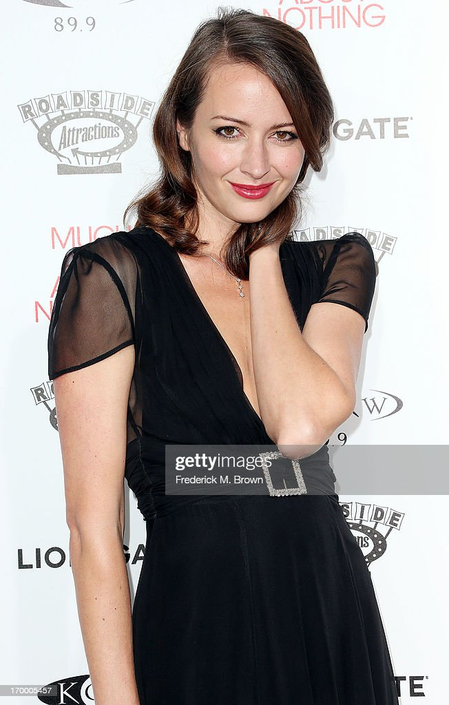 Actress Amy Acker attends the screening of Lionsgate and Roadside Attractions' 'Much Ado About Nothing' at Oscar's Outdoors Hollywood theater on June 5, 2013 in Hollywood, California.