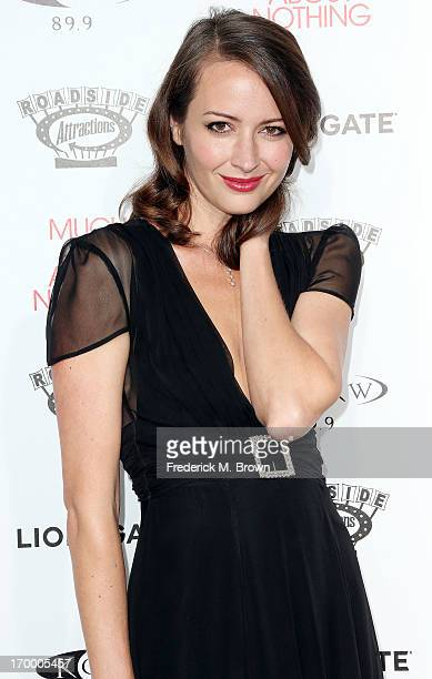 "Actress Amy Acker attends the screening of Lionsgate and Roadside Attractions' ""Much Ado About Nothing"" at Oscar's Outdoors Hollywood theater on June..."