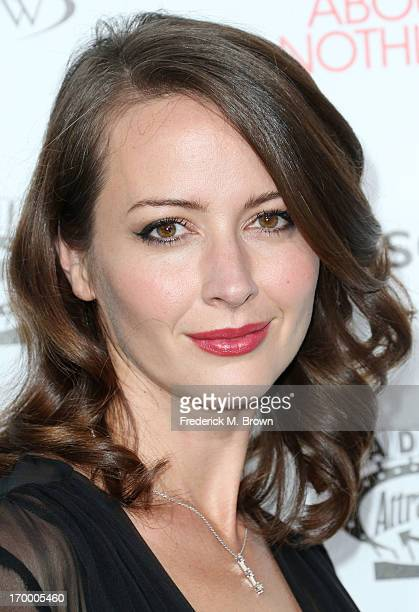 Actress Amy Acker attends the screening of Lionsgate and Roadside Attractions' 'Much Ado About Nothing' at Oscar's Outdoors Hollywood theater on June...