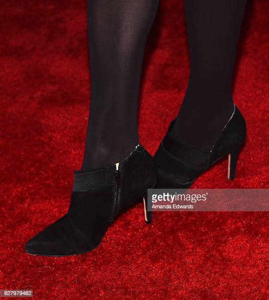 Actress Amy Acker shoe detail arrives at a screening of Hallmark Channel's 'A Nutcracker Christmas' at The Grove on December 5 2016 in Los Angeles...