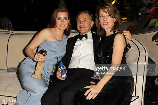 Actress Amy Adams actor Christophe Waltz and Judith Holsteattends The Weinstein Company Netflix's 2015 Golden Globes After Party presented by FIJI...