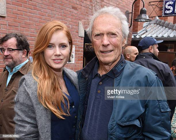 Actress Amy Adams and actor and director Clint Eastwood attend the Telluride Film Festival 2016 on September 3 2016 in Telluride Colorado