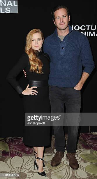 """Actress Amy Adams and actor Armie Hammer attend the Photo Call For Focus Features' """"Nocturnal Animals"""" at Four Seasons Hotel Los Angeles at Beverly..."""