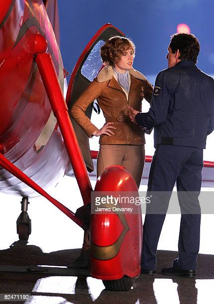 Actress Amy Adams and actor Ben Stiller on location for Night at the Museum 2 Battle of the Smithsonian at the Natural Museum of History on August 18...