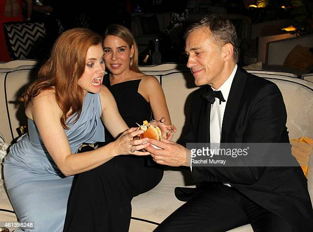 Actress Amy Adams and actor Christoph Waltz attend The Weinstein Company Netflix's 2015 Golden Globes After Party presented by FIJI Water Lexus Laura...