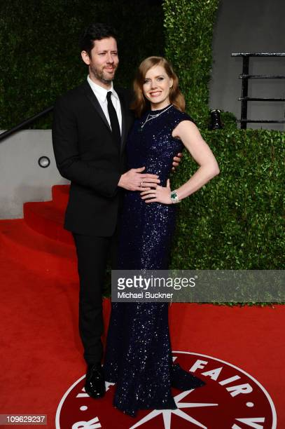 Actress Amy Adams and actor Darren Le Gallo arrive at the Vanity Fair Oscar party hosted by Graydon Carter held at Sunset Tower on February 27 2011...