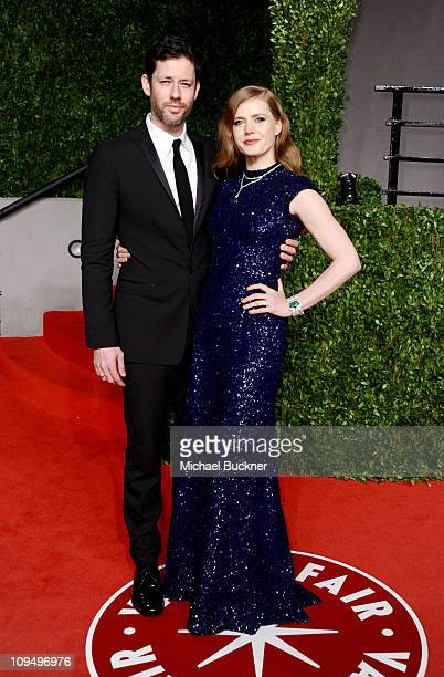 Actress Amy Adams and actor Darren Le Gallo arrives at the Vanity Fair Oscar party hosted by Graydon Carter held at Sunset Tower on February 27 2011...