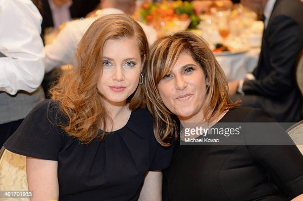 Actress Amy Adams and Amy Pascal CoChairman of Sony Pictures Entertainment and Chairman of Sony Pictures Entertainment Motion Picture Group attend...