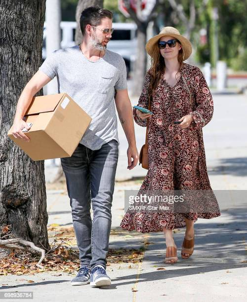 Actress Amy Adams and Darren Le Gallo are seen on June 20 2017 in Los Angeles California