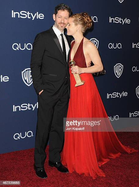 Actress Amy Adams and Darren Le Gallo arrive at the 2014 InStyle And Warner Bros 71st Annual Golden Globe Awards PostParty on January 12 2014 in...