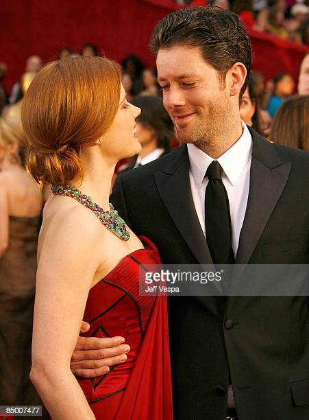 Actress Amy Adams and Darren Le Gallo arrive at the 81st Annual Academy Awards held at The Kodak Theatre on February 22 2009 in Hollywood California