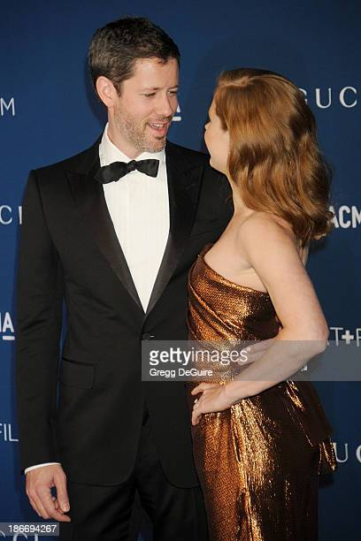 Actress Amy Adams and Darren Le Gallo arrive at the LACMA 2013 Art Film Gala at LACMA on November 2 2013 in Los Angeles California
