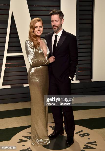 Actress Amy Adams and Darren Le Gallo attend the 2017 Vanity Fair Oscar Party hosted by Graydon Carter at Wallis Annenberg Center for the Performing...