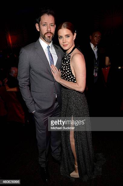 Actress Amy Adams and Darren Le Gallo attend the 25th annual Palm Springs International Film Festival awards gala at Palm Springs Convention Center...