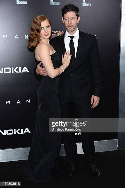 Actress Amy Adams and Darren Le Gallo attend the Man Of Steel world premiere at Alice Tully Hall at Lincoln Center on June 10 2013 in New York City