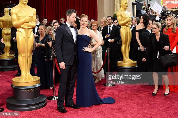 Actress Amy Adams and Darren Le Gallo attend the Oscars held at Hollywood Highland Center on March 2 2014 in Hollywood California