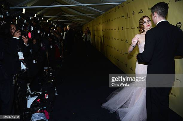 Actress Amy Adams and Darren Le Gallo attend The Weinstein Company's 2013 Golden Globe Awards after party presented by Chopard HP Laura Mercier Lexus...