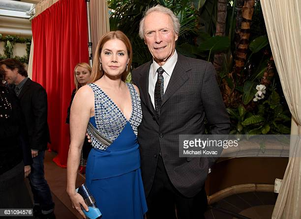 Actress Amy Adams and director Clint Eastwood attend the 17th annual AFI Awards at Four Seasons Los Angeles at Beverly Hills on January 6 2017 in Los...