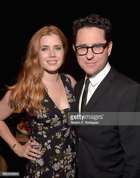 Actress Amy Adams and director J.J. Abrams attend the CinemaCon 2016 Gala Opening Night Event: Paramount Pictures Highlights its 2016 Summer and...