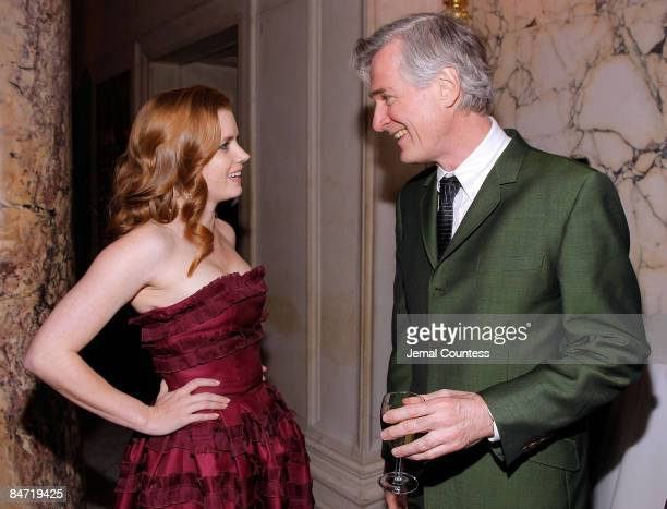 Actress Amy Adams and Director John Patrick Shanley attend the premiere after party for 'Doubt' at The Metropolitan Club on December 7 2008 in New...