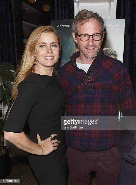 Actress Amy Adams and director Spike Jonze attend the screening of Paramount Pictures' Arrival hosted by Spike Jonze and The Cinema Society at The...