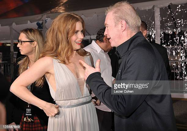 Actress Amy Adams and former boxer Dicky Eklund arrive at The Fighter Los Angeles premiere held at the Grauman's Chinese Theatre on December 6 2010...