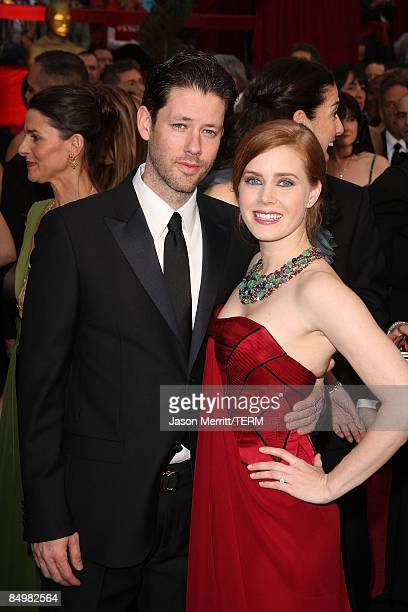 Actress Amy Adams and guest arrive at the 81st Annual Academy Awards held at Kodak Theatre on February 22 2009 in Los Angeles California