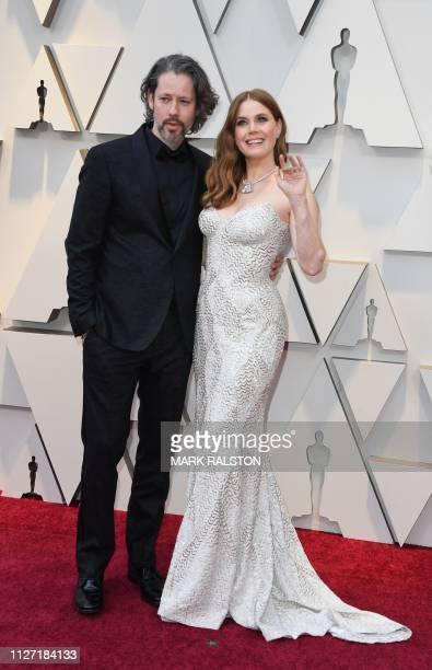 US actress Amy Adams and her husband Darren Le Gallo arrive for the 91st Annual Academy Awards at the Dolby Theatre in Hollywood California on...
