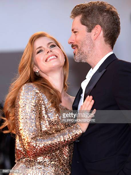 Actress Amy Adams and her husband Darren Le Gallo arrive for the premiere of the movie 'Nocturnal Animals' presented in competition at the 73rd...