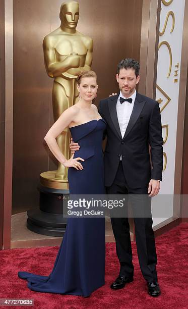 Actress Amy Adams and husband Darren Le Gallo arrive at the 86th Annual Academy Awards at Hollywood Highland Center on March 2 2014 in Hollywood...